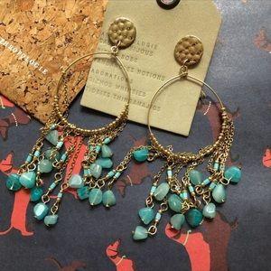 NWT Anthropologie Stone Tassels Earrings